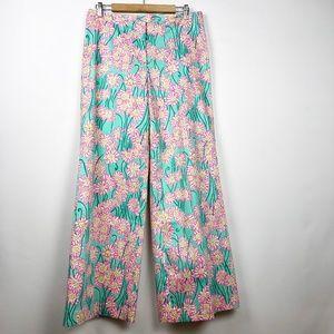 Lilly Pulitzer Palm Beach Bennet Pants 10 Wide Leg